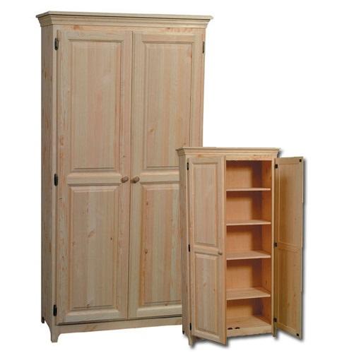 Shaker Pine Pantry 2 Door