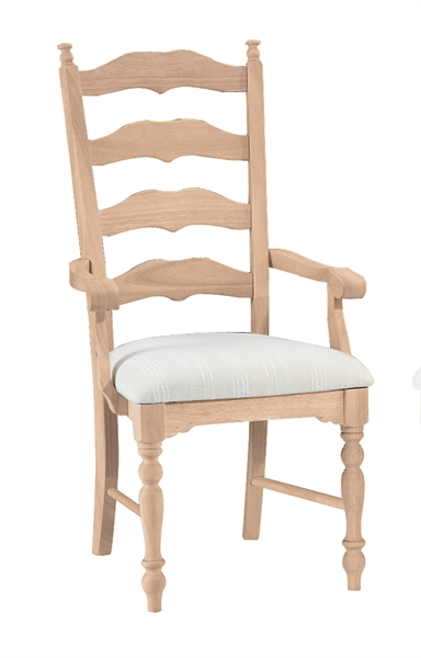 Maine ladderback arm chair Maine wood furniture