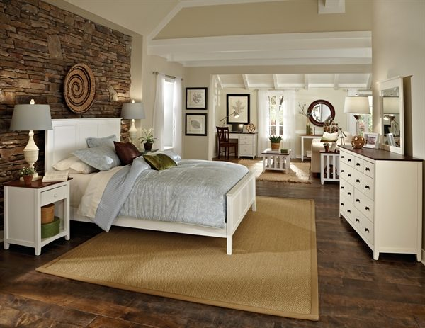 Lancaster Collection 4 Piece Unfinished Bedroom Set |