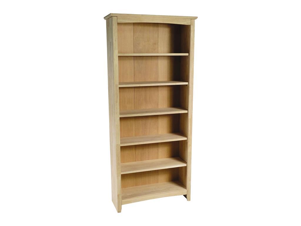 32 Unfinished Shaker Bookcase