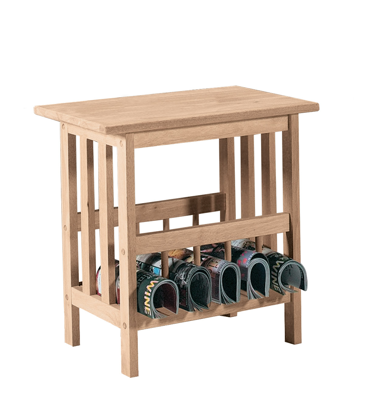 Mission Collection Magazine End Table