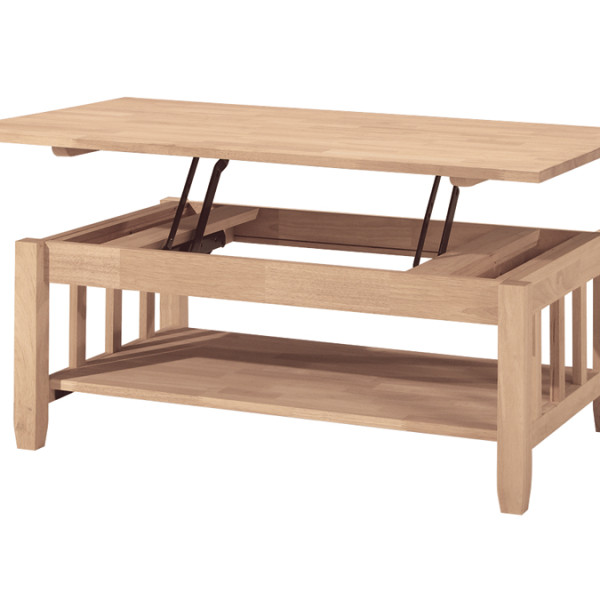 Mission Collection Coffee Table With Lift Top