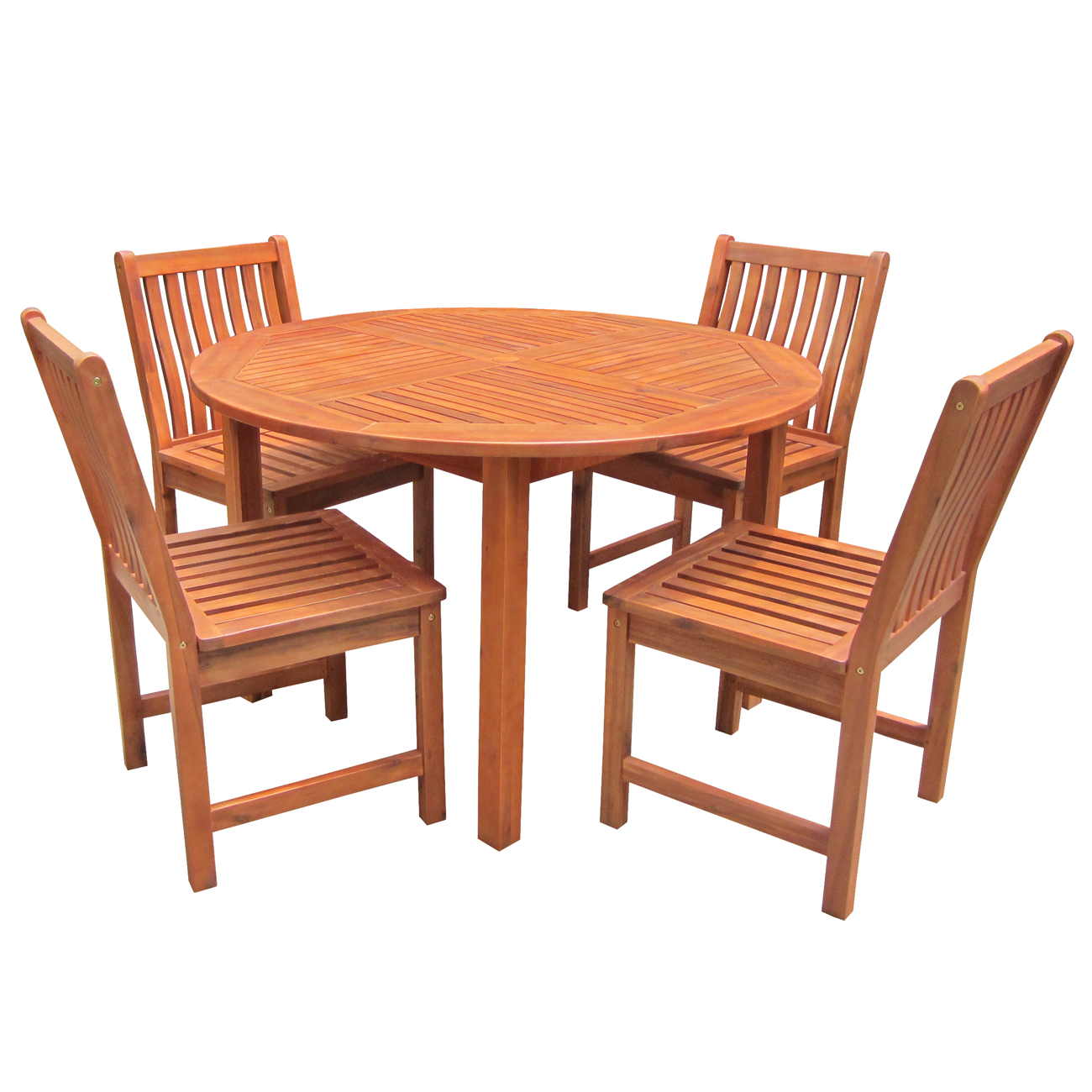 Solid wood outdoor table and chair set for Outdoor patio table and chairs