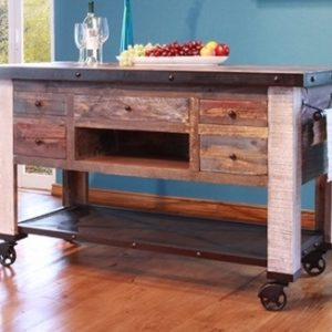 Reclaimed Multi Color Kitchen Island