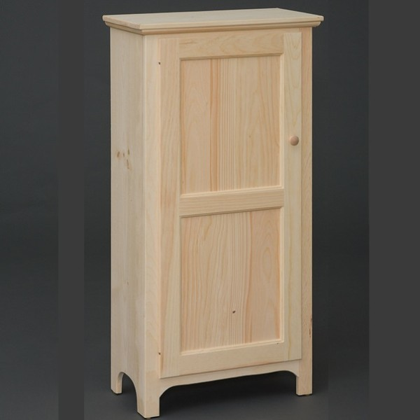 Solid Pine Single Door Pantry Jelly Cabinet