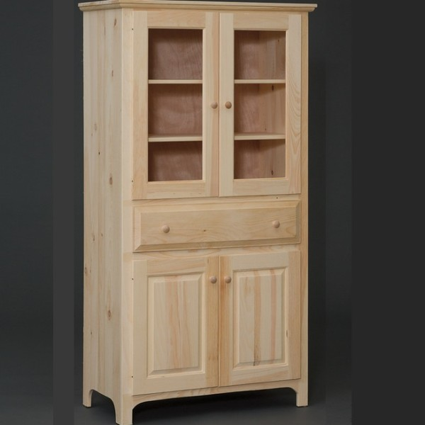 Amish built 4 door pantry cabinet for Wood pantry cabinet sale