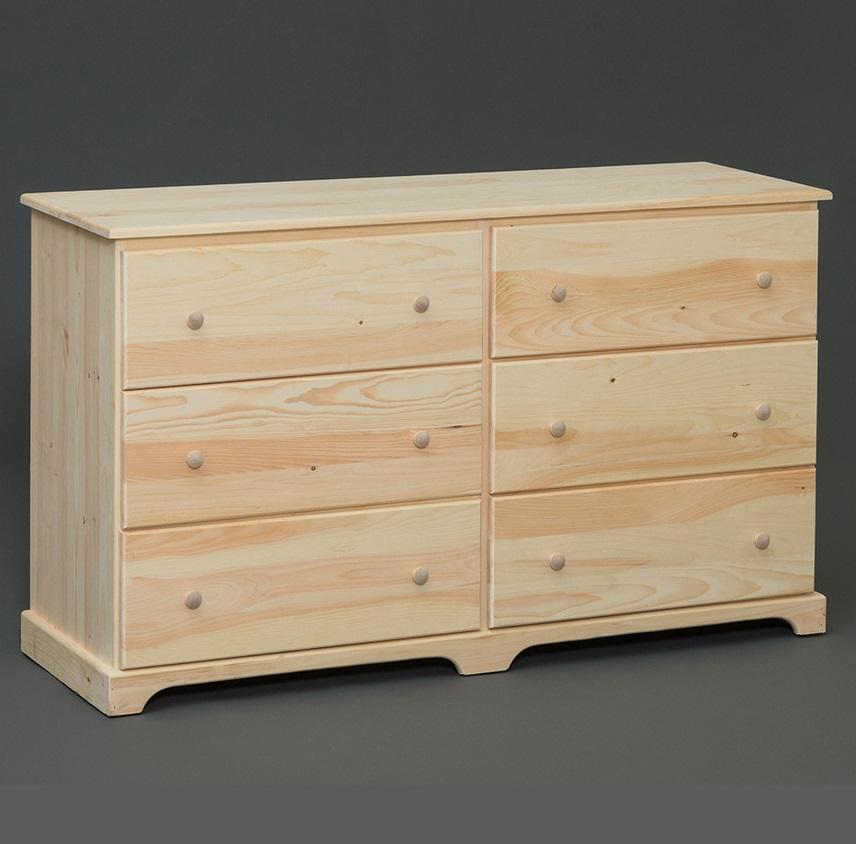 Amish Built 6 Drawer Dresser