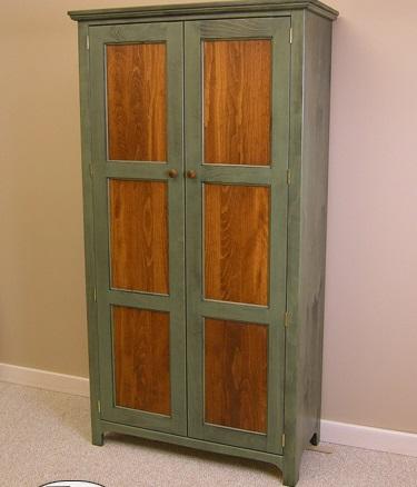 Solid Pine Two Door Pantry
