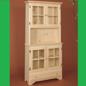 Unfinished Display Cabinet