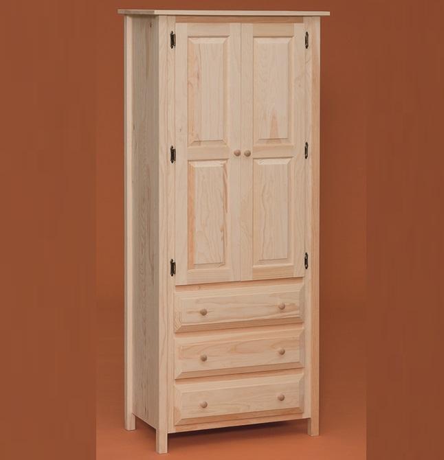 Pine Three drawer Linen Cabinet |