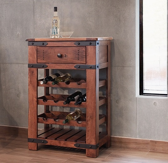 Parota Wood Wine Rack