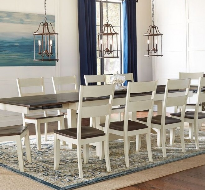 Mariposa Collection 132″ Extension Dining Table and Chair Set |