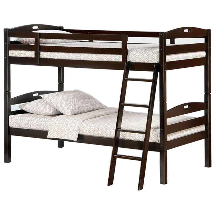 Sesame Twin Wooden Bunk Bed Solid Wood Kids Bunk Beds