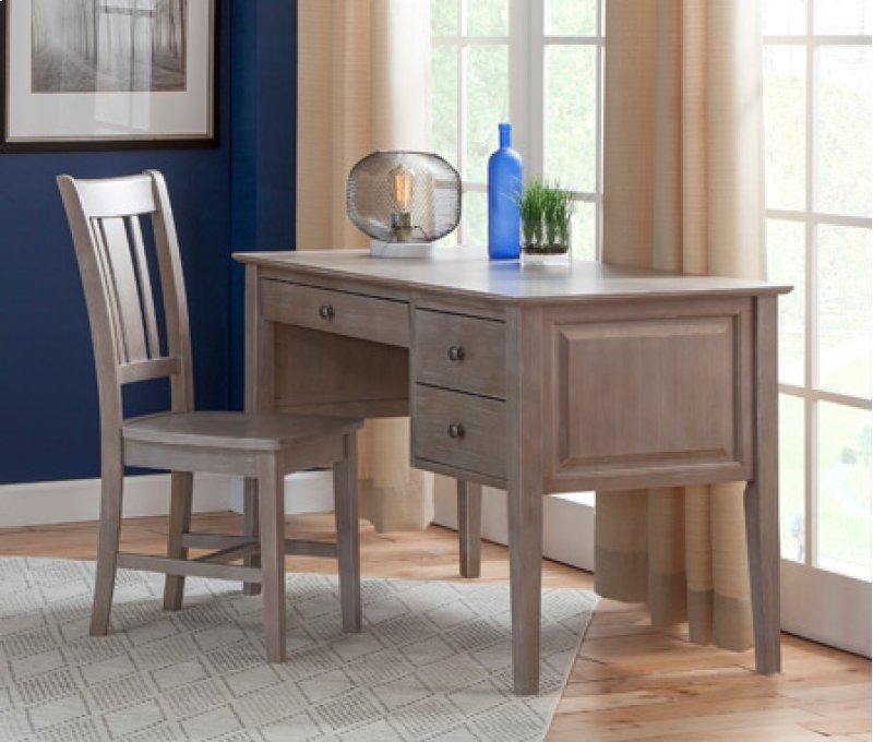 Gray Espresso 2 Drawer Executive Lancaster Desk