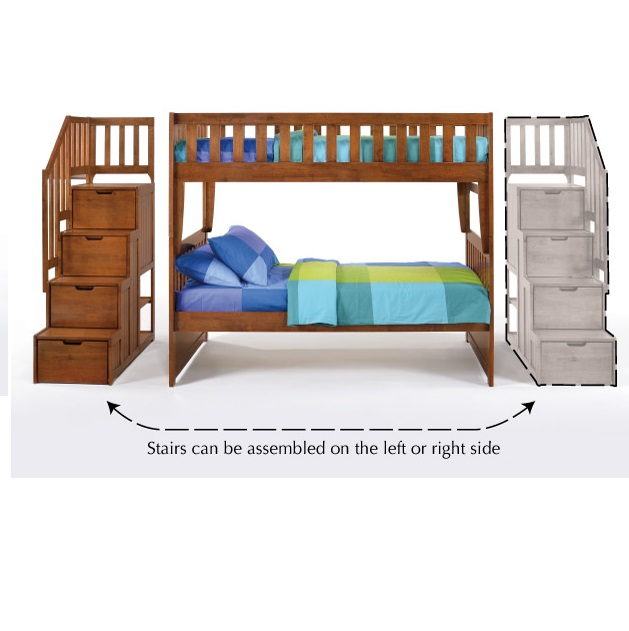 Spices Bedroom Collection Peppermint Stair Bunk Bed