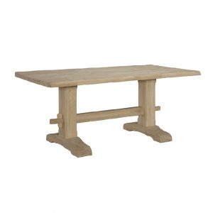 Unfinished Live Edge Trestle Table