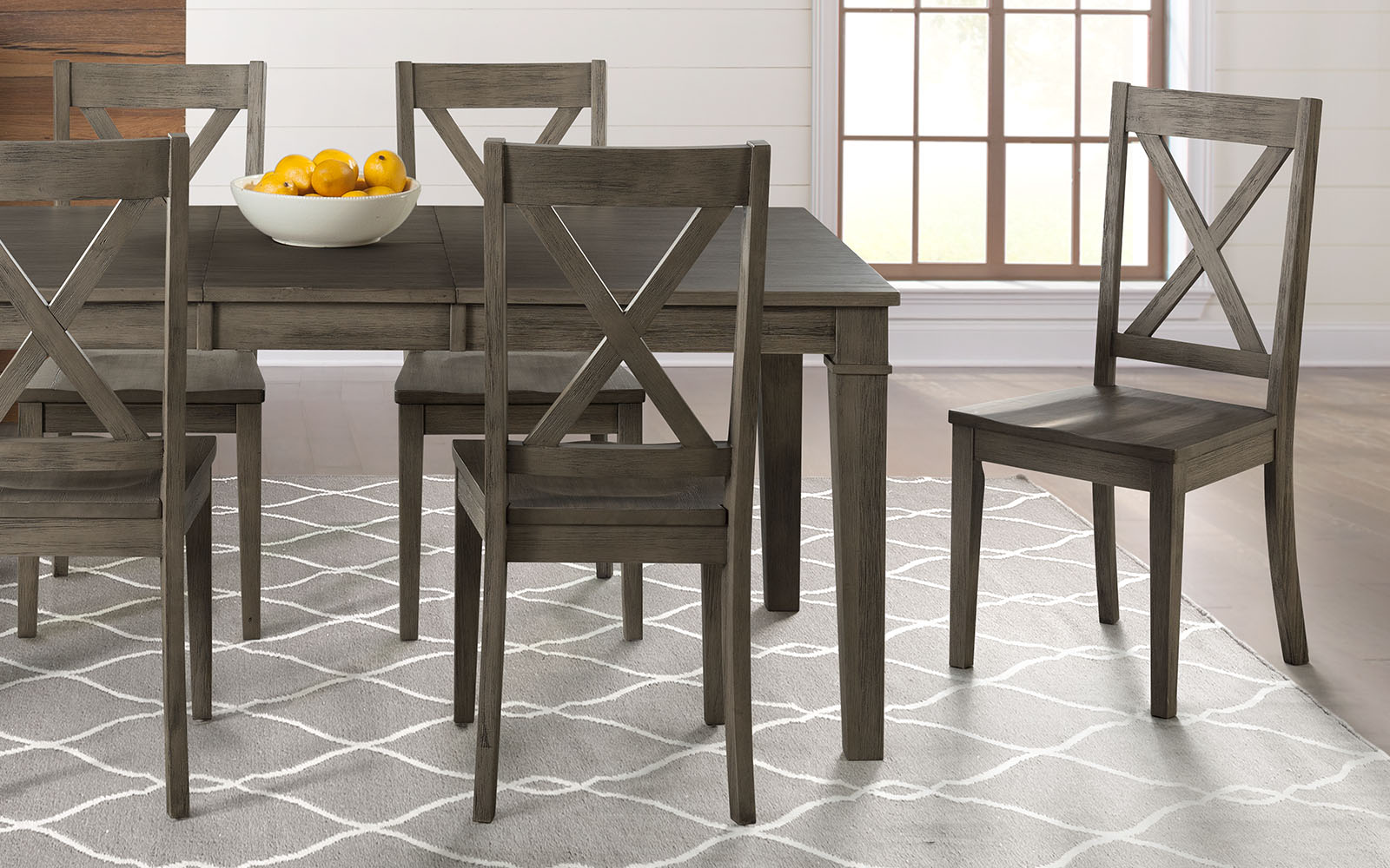 Huron Collection Distressed Gray Pedestal Table