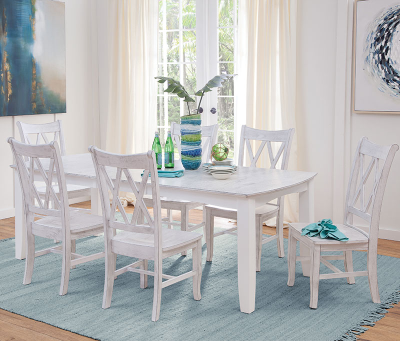 Hampton Collection Chalk & White Table And Chair Set